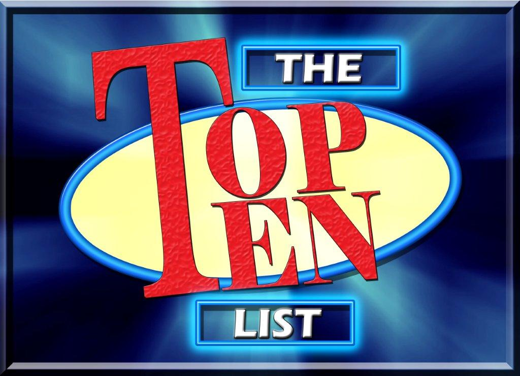 Image result for image of top ten list